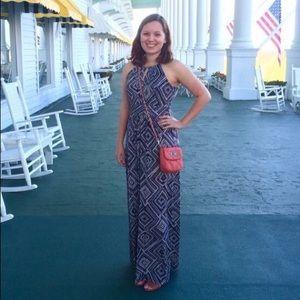 Diamond print Ann Taylor Loft maxi dress